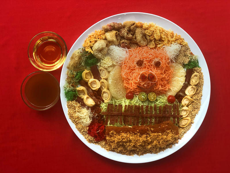 Make your own yusheng with five types of pork items, Food