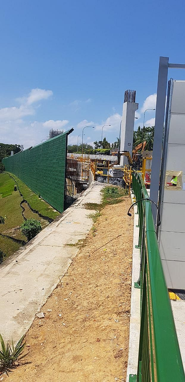 Preparatory work has begun on a viaduct project in Changi that stalled after a collapse at the site two years ago killed one man and injured 10 others, at least one seriously. A handful of workers were seen doing minor clearing work on the surface ye