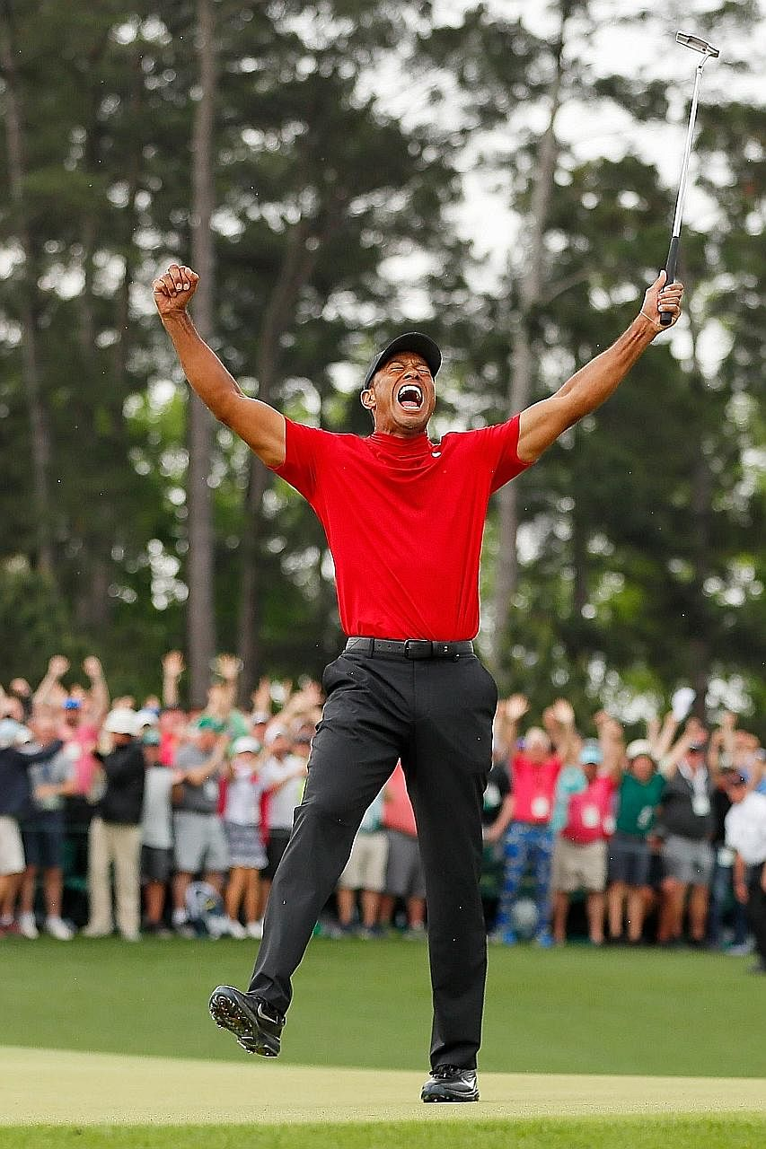 Tiger Woods is still a game changer. The man who transformed golf with his first Masters victory in 1997 is again a Major champion, 11 years after his last triumph in one of golf's four storied tournaments. Clad in red - always his colour of choice f