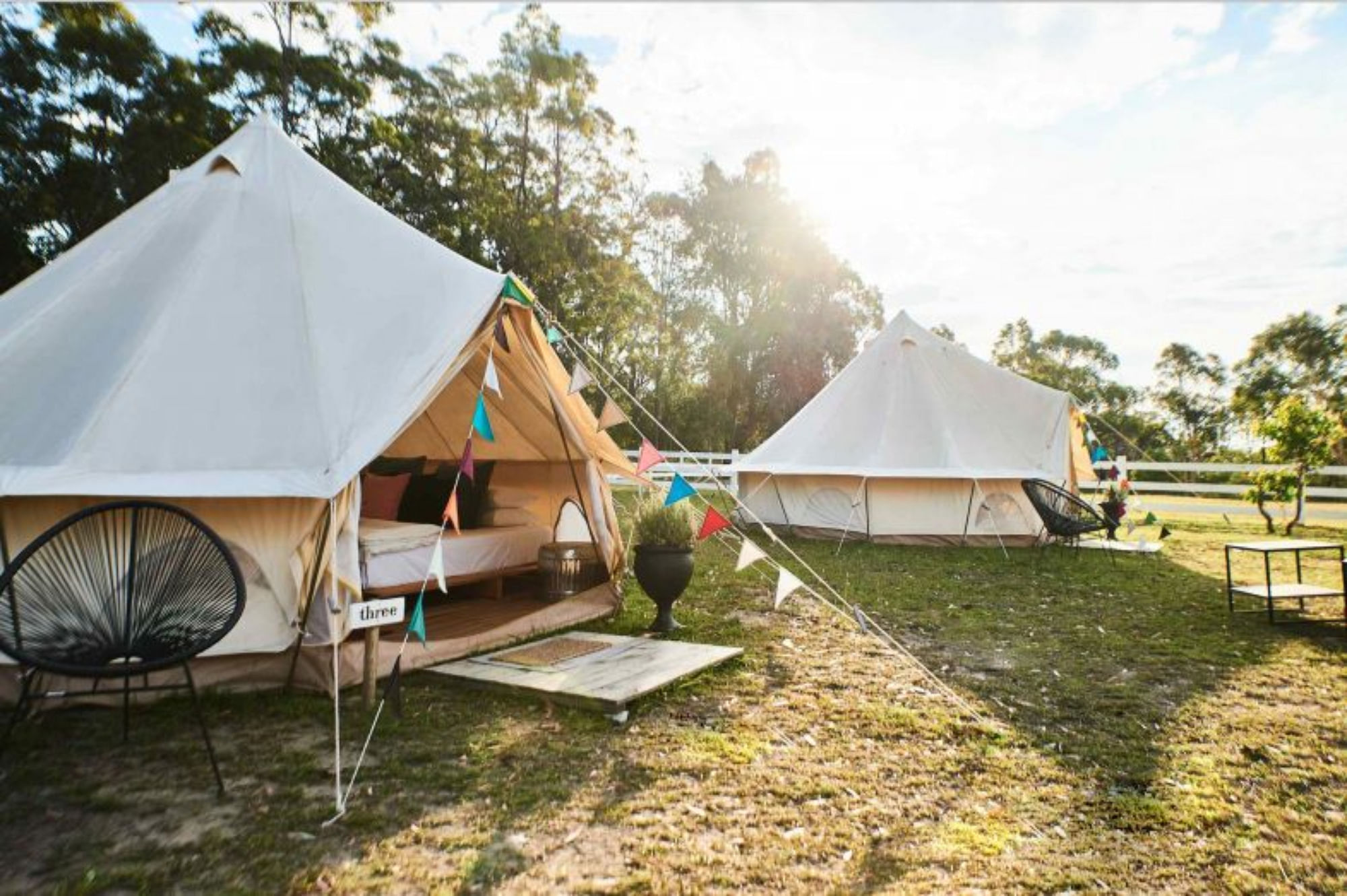 Glamping at The Woods Farm