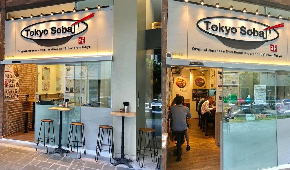 Tokyo Soba's cosy outlet at Icon Village in Tanjong Pagar has a Japanese-style minimalist interior with tasteful wood finishes.