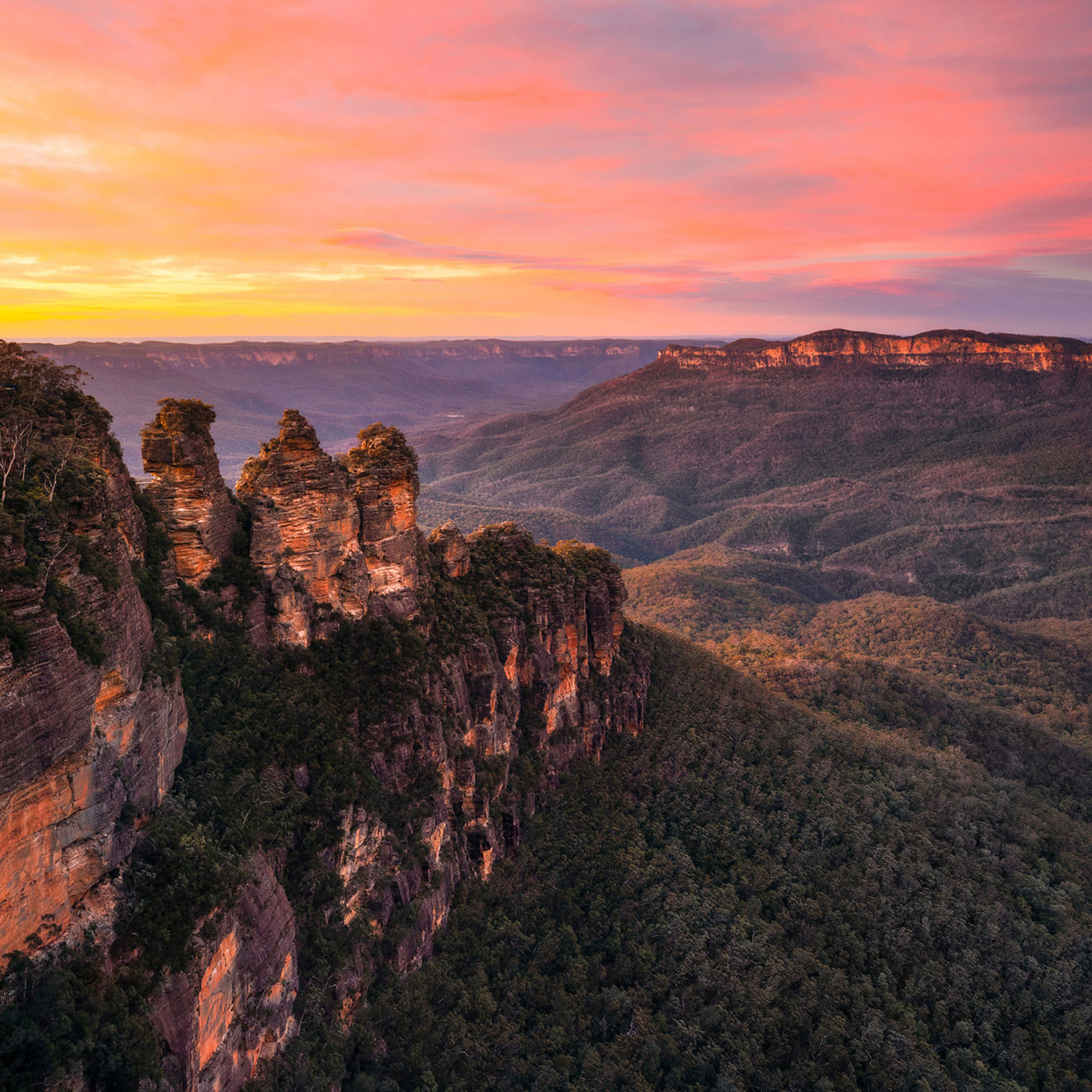 The Blue Mountains in Australia