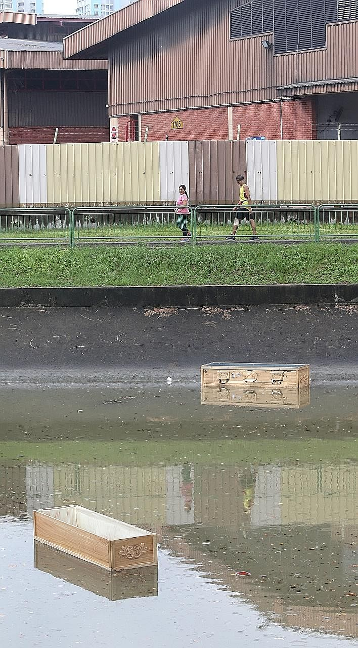 While it is not yet known how the coffins ended up in Kallang River, funeral director Jackie Lee says they were likely imported and that their origins can be traced from shipping labels.