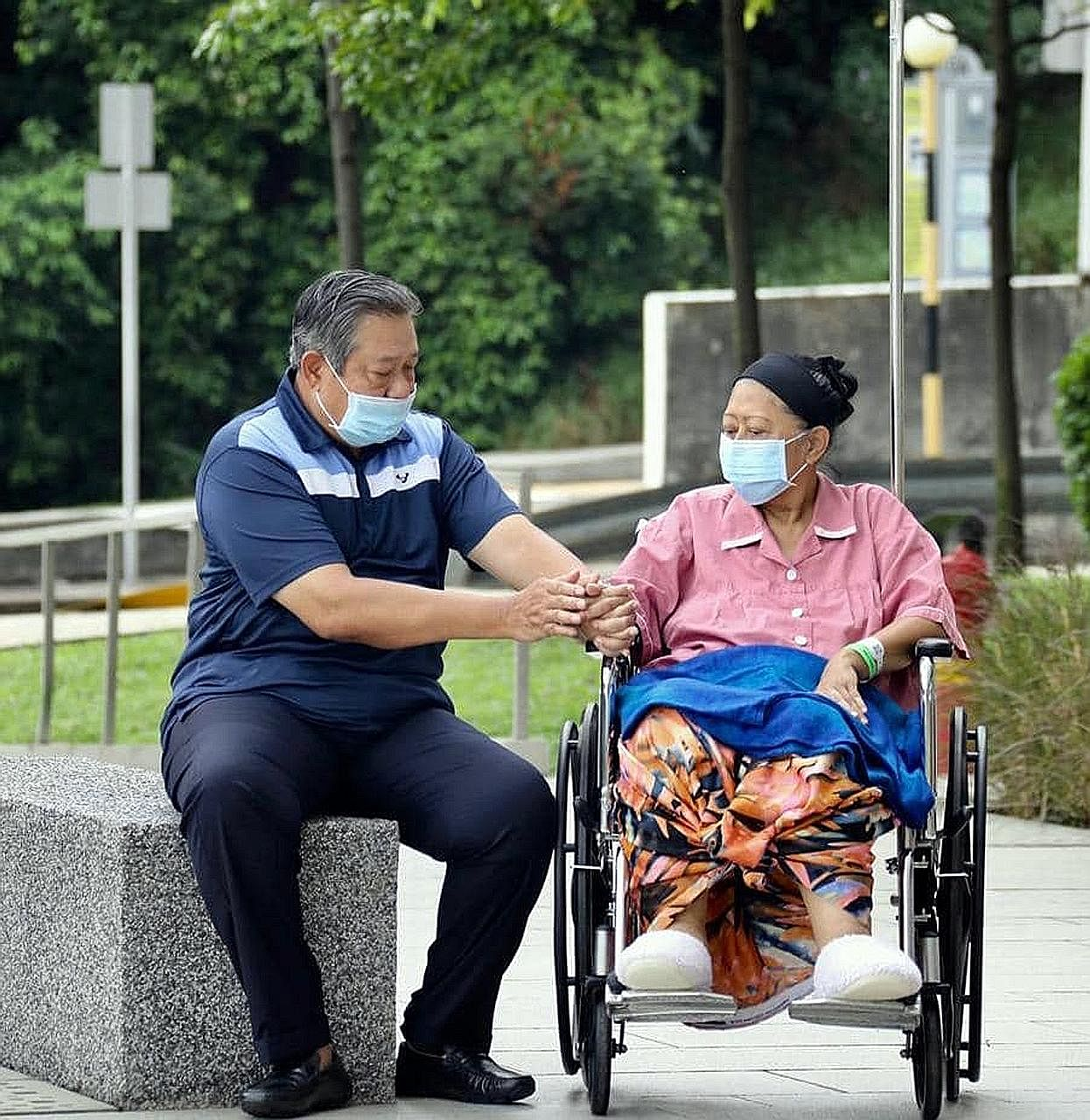Mrs Ani Yudhoyono shared her struggle with cancer through Instagram. She last posted a picture of herself with her husband outside the hospital ward on May 16.
