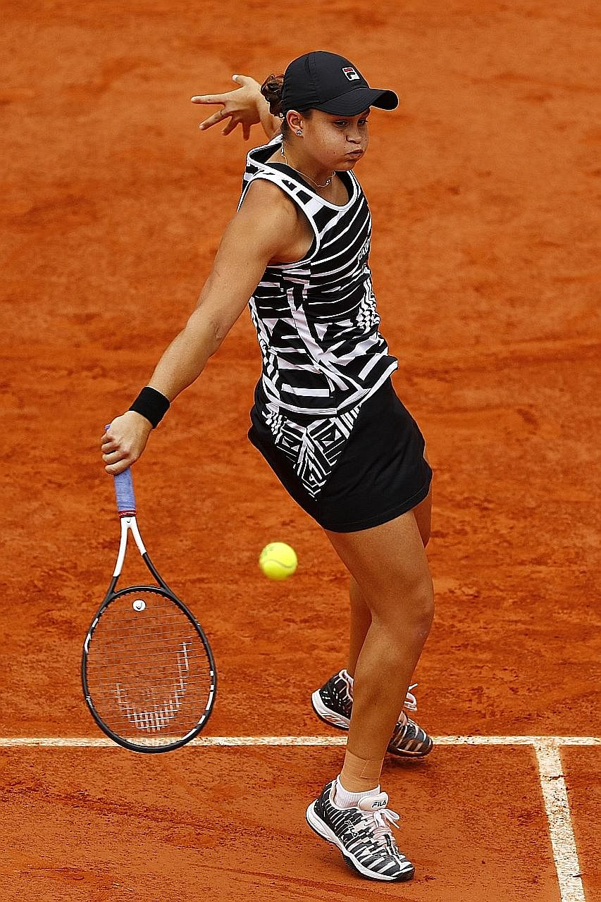Ashleigh Barty overcomes a first-set collapse to sweep aside American teenager Amanda Anisimova in three sets yesterday. She will meet Czech Marketa Vondrousova in today's final.