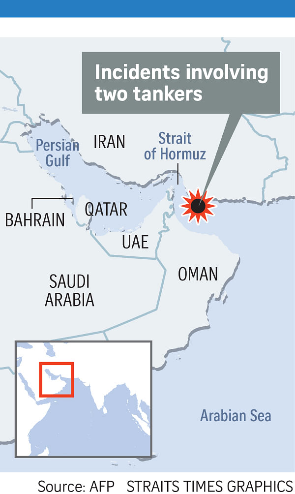 Attacks' on 2 oil tankers in Gulf fan fears of conflict, Middle East