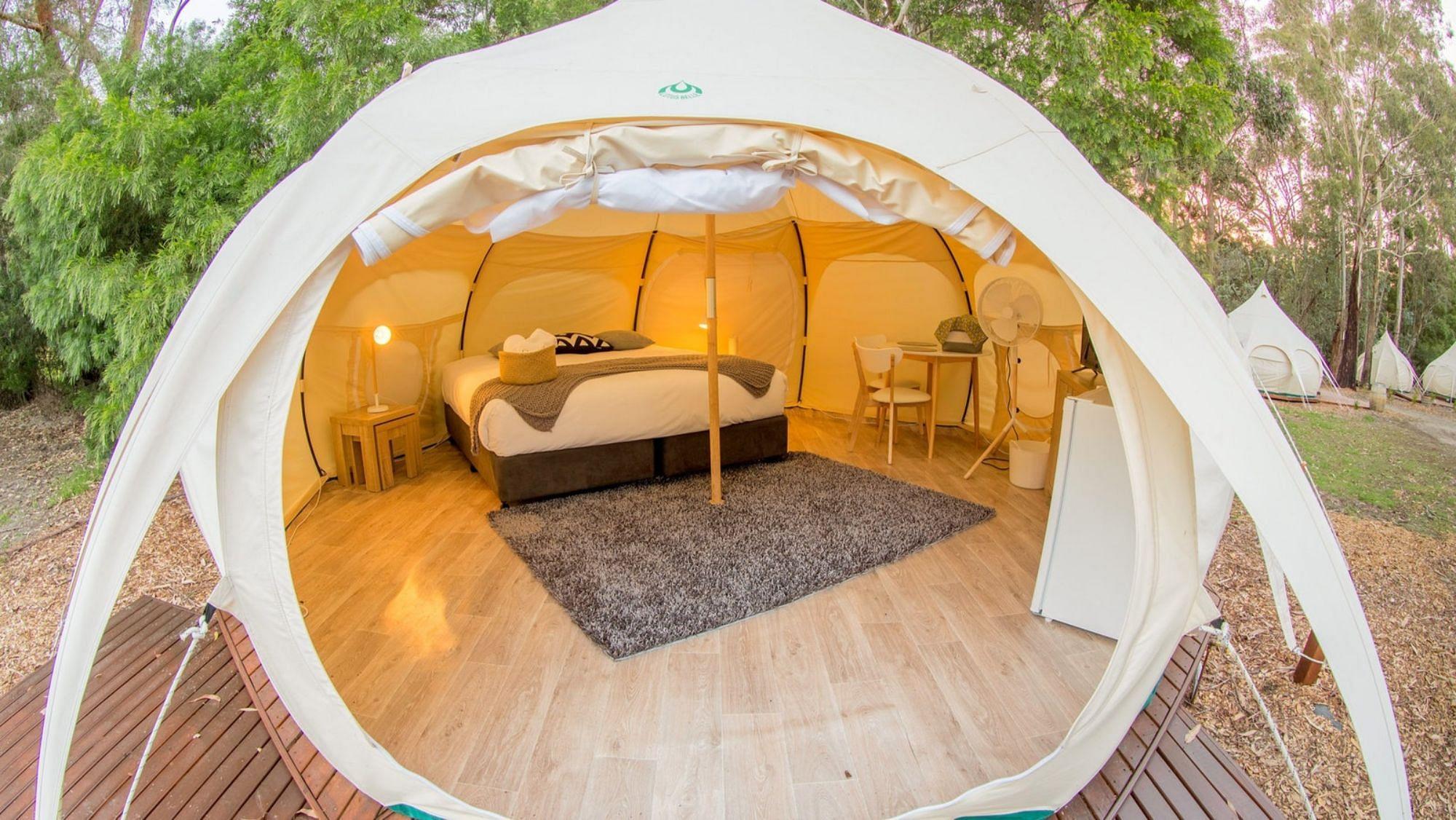 Glamping in Iluka Retreat & Camp, Victoria, Australia