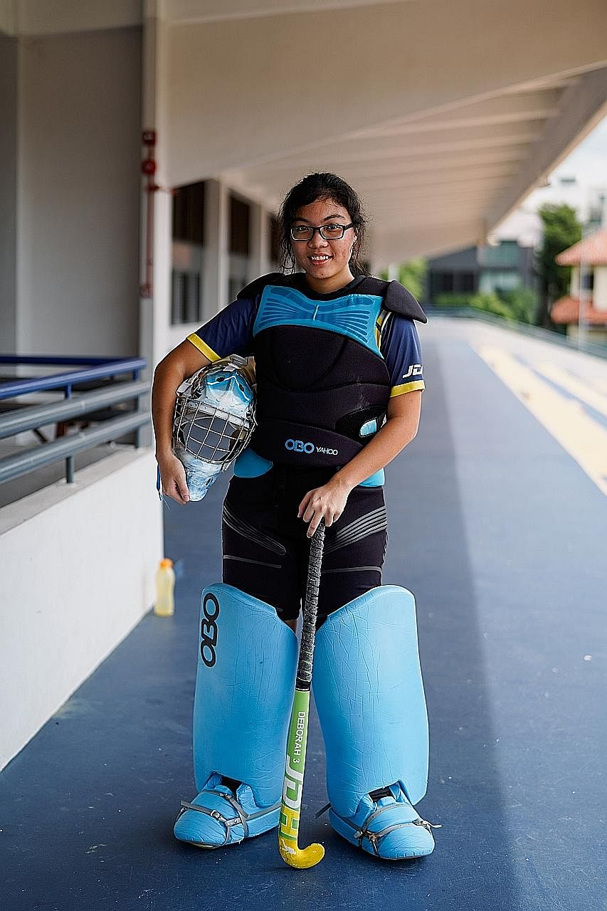 Deborah Lee made a swift return from injury to Eunoia Junior College's hockey team and played a key role in goal, keeping out all their opponents en route to the A Division championship.
