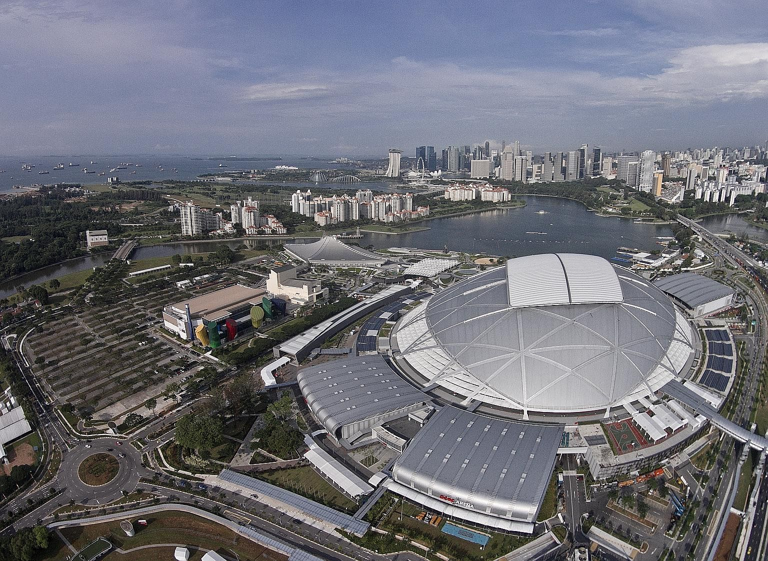 Singapore's National Stadium has a seating capacity of 55,000. Fifa requires host cities to have stadiums with at least a capacity of 40,000 to hold World Cup matches (60,000 for semi-finals and 80,000 for the opening match and final). With different