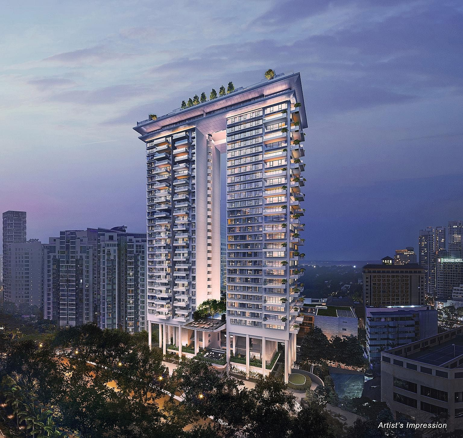 The buzz over high-end freehold Boulevard 88 in Orchard Boulevard helped boost the number of caveats lodged for luxury apartments in the prime district or Core Central Region by 19 per cent in the first half of the year.