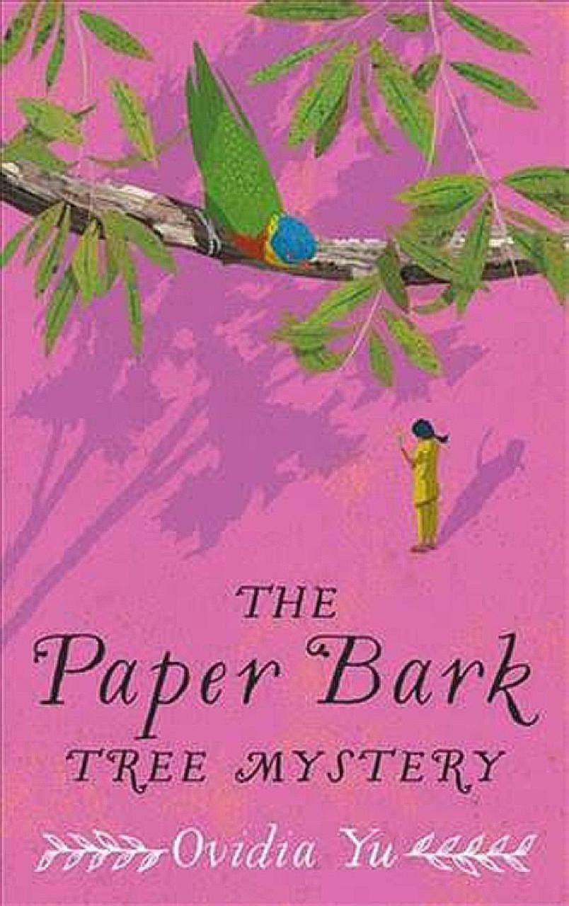 The Paper Bark Tree Mystery (above) is the third book in a detective series by Ovidia Yu (top).