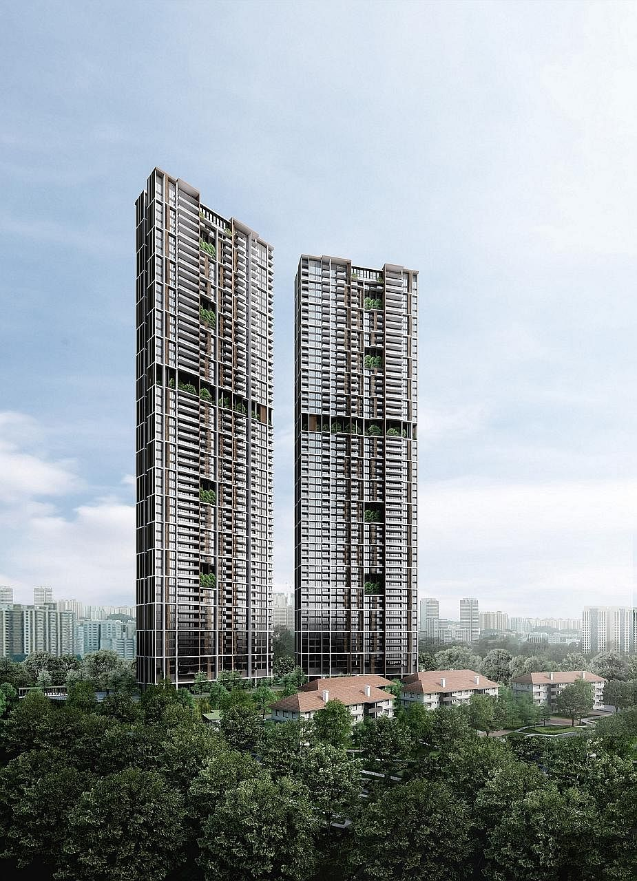 An artist's impression of UOL's Avenue South Residence in Silat Avenue, near Outram, set to be launched by the end of this month.