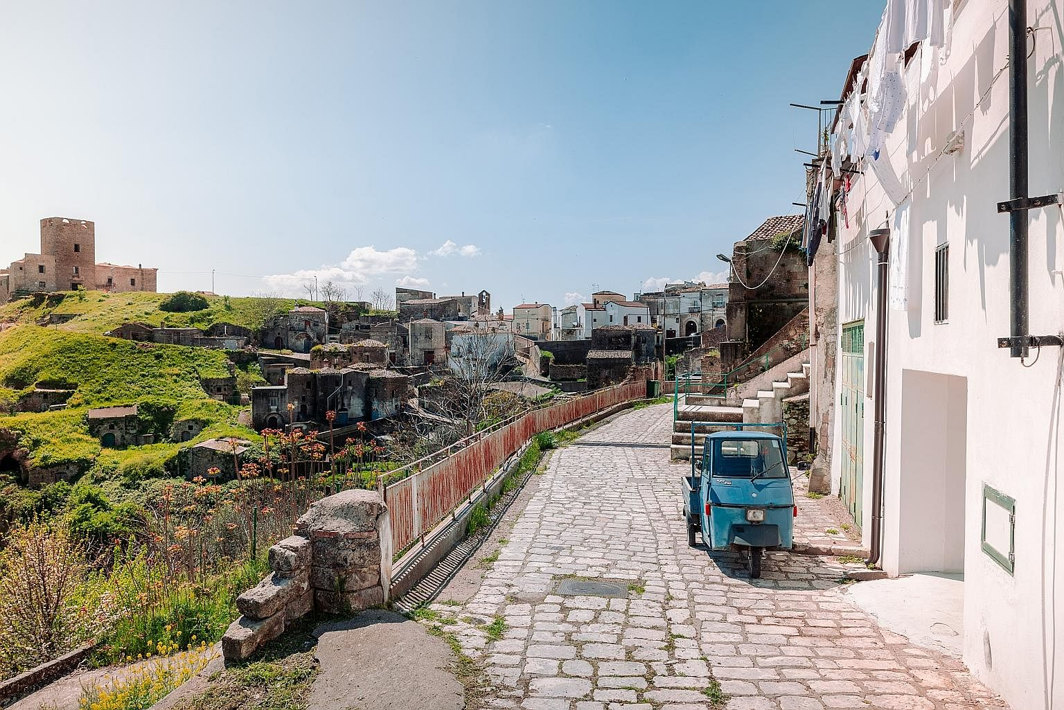 Matera and its environs are home to more than 150 rock-hewn, or rupestrian, churches. The photo above shows frescoes on the walls of the rock church of San Giuliano, which is accessed through the 18th-century Church of Sant'Agostino An Airbnb home (a