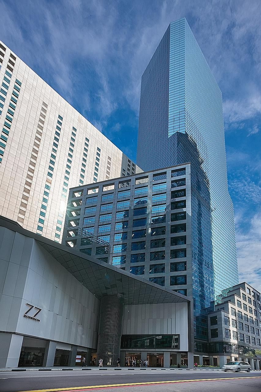 Hong Kong private equity firm Gaw Capital Partners bought Robinson 77 for $710 million in February. More than a quarter of Hong Kong's US$5.2 billion in overseas property investments in the first half went to Singapore.