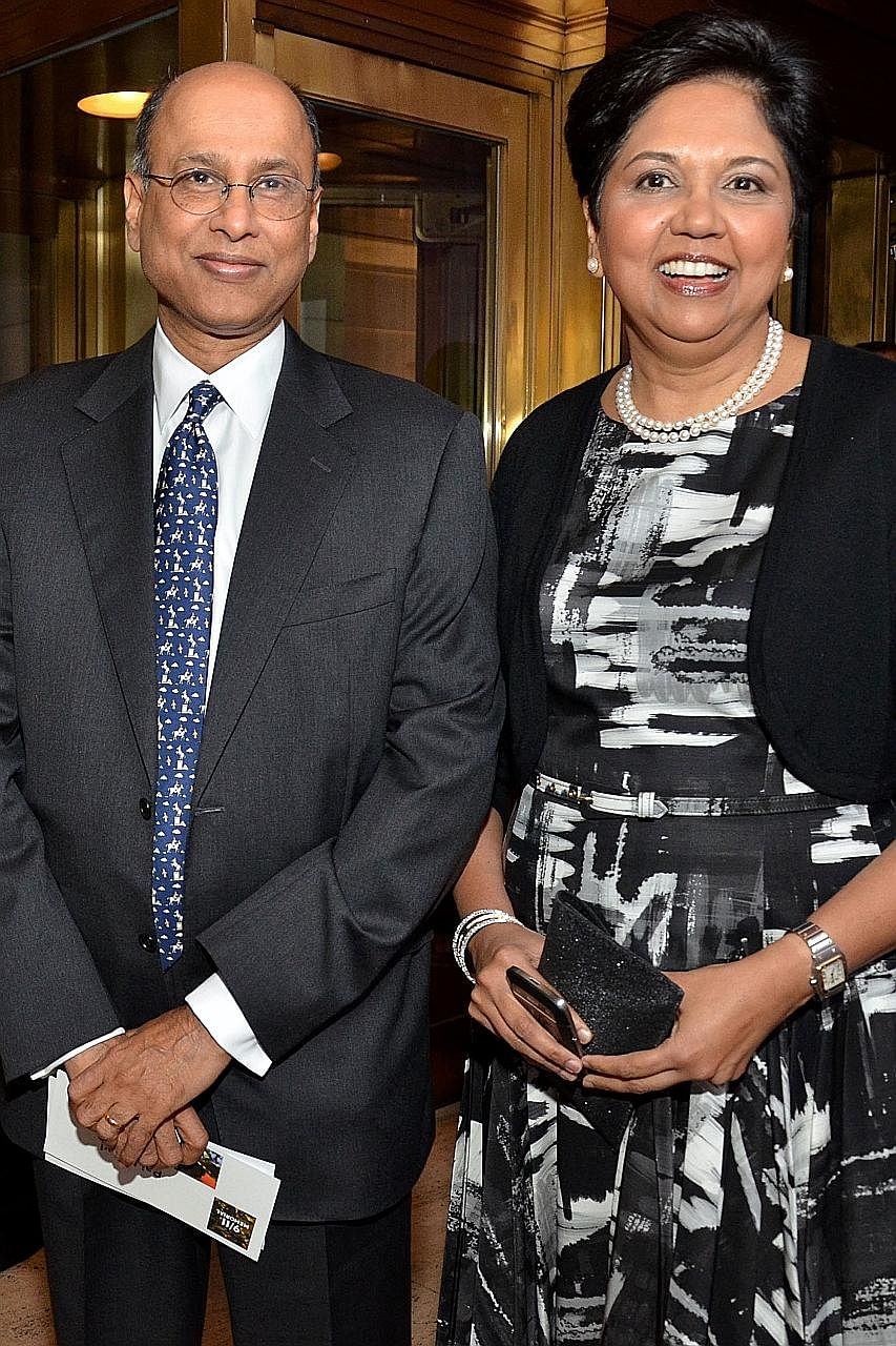 "Mrs Indra Nooyi with her husband Raj K. Nooyi. Mrs Indra Nooyi, who is known for her visionary leadership, says she relished the role of CEO as ""supporter, coach, mentor"" as she could teach others all the things she had learnt to get to where she was"