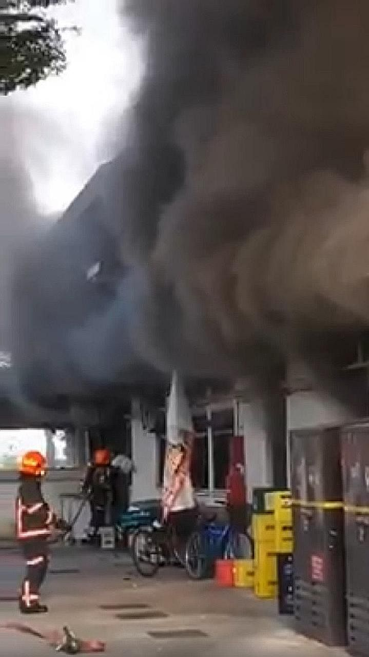 The fire involved the contents of a kitchen in the coffee shop.