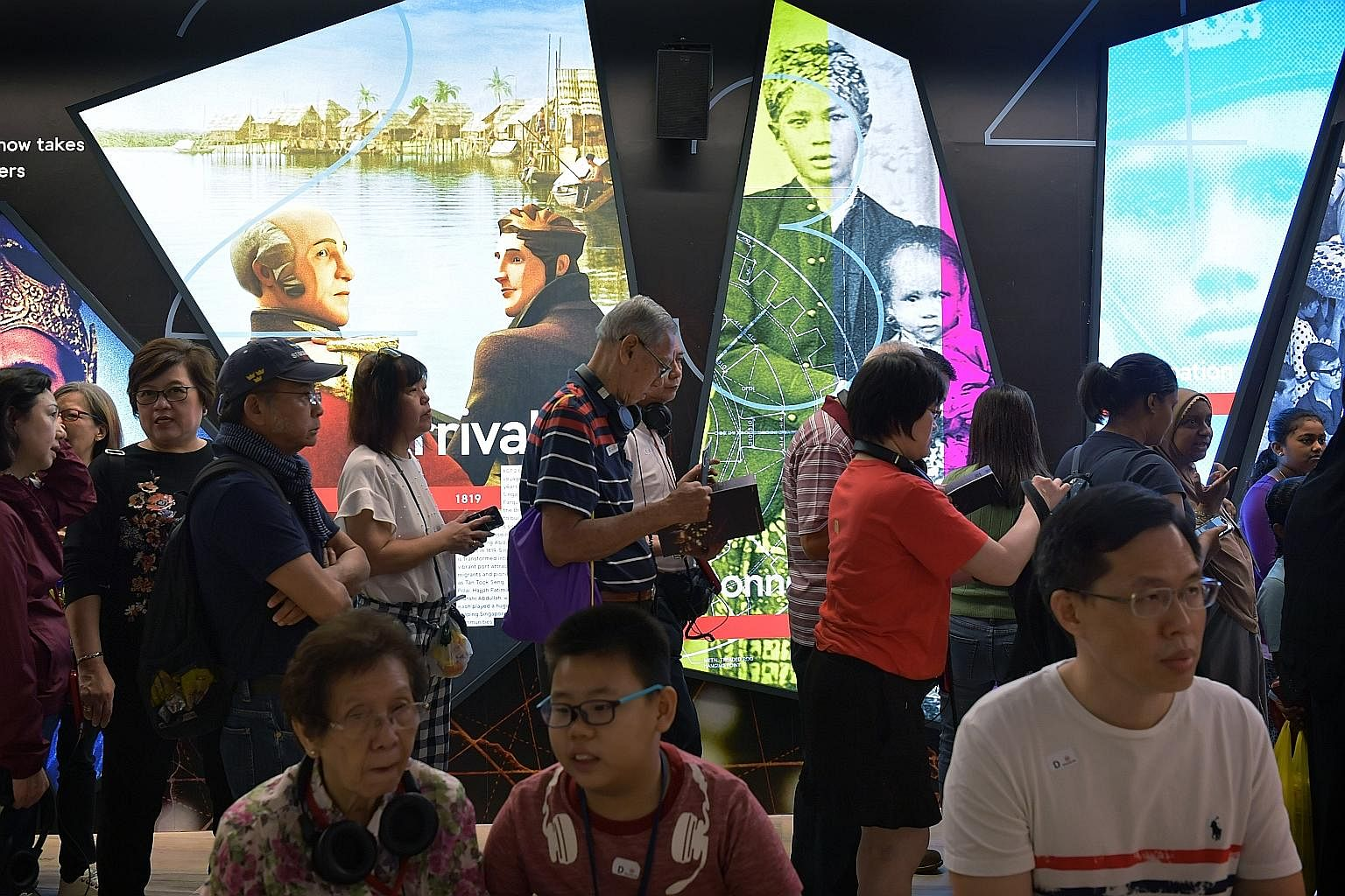 Visitors queueing up for the Bicentennial Experience at Fort Canning Centre. Our debates about identity - be it personal or national - have to take place in a wider regional context where we need to reconnect with our region as a whole, says the writ