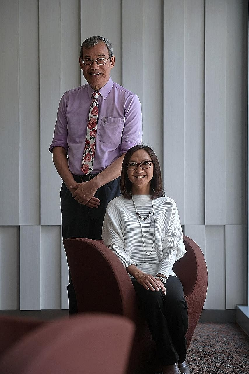 Osteoporosis increases the risk of hip fractures. Ms Wendy Wong, seen here with Professor Yong Eu Leong, was diagnosed with osteoporosis four years ago and is now more mindful about exercising more.