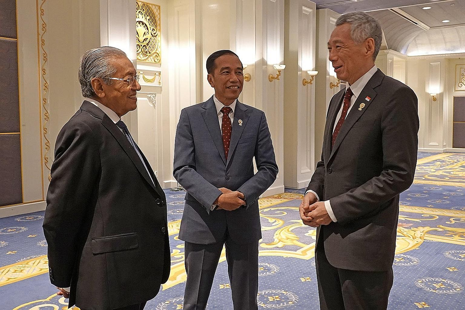 President Joko Widodo with Prime Minister Lee Hsien Loong and Malaysian Prime Minister Mahathir Mohamad in Bangkok last month. ST editors hailed Mr Joko's role in putting Indonesia at the heart of Asean in recent times.