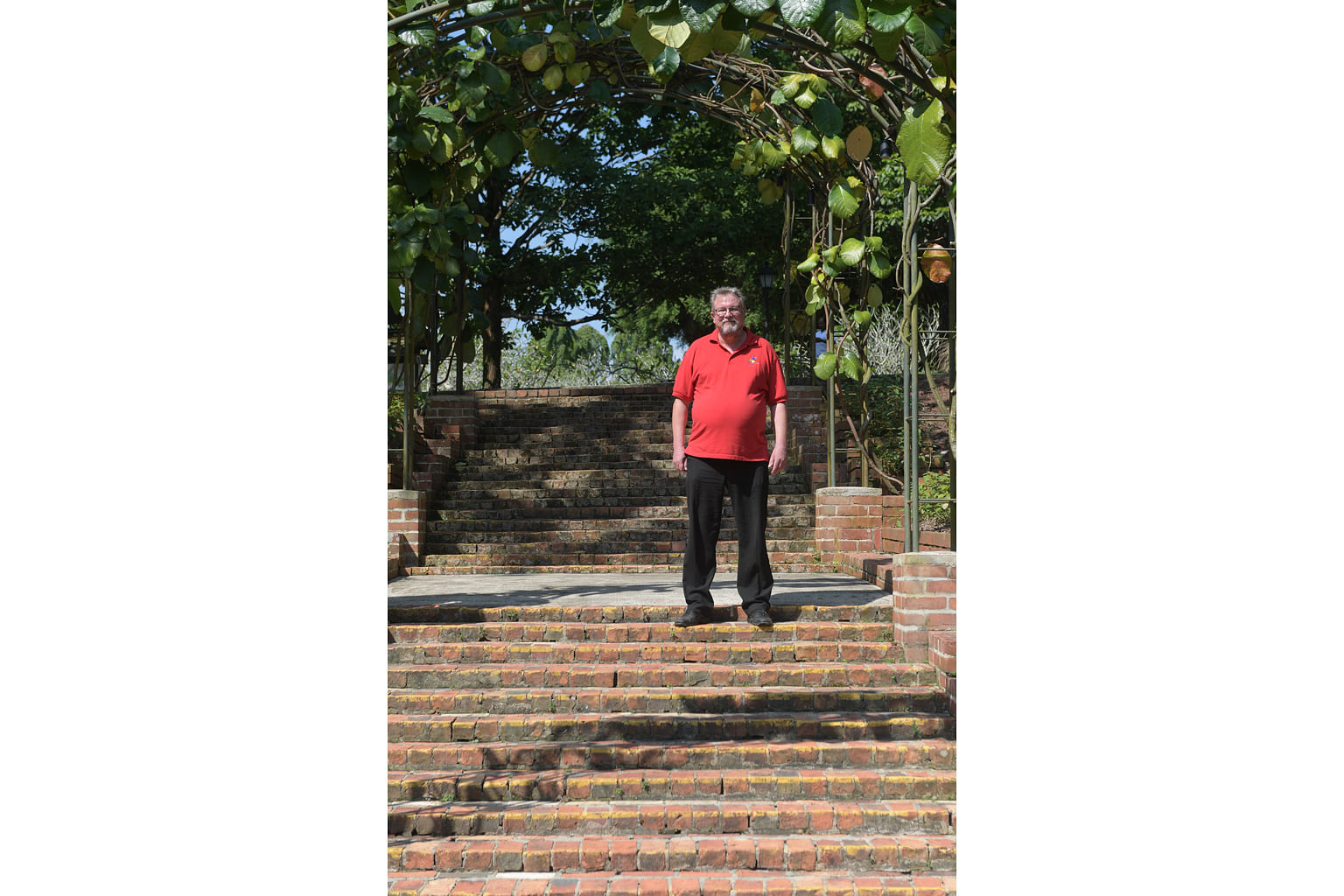 Established in 1859, the Singapore Botanic Gardens is the oldest garden in the country, and rich in history. Dr Nigel Taylor (above) stands at two flights of brick steps built by Australian prisoners of war (POWs) during the Japanese occu