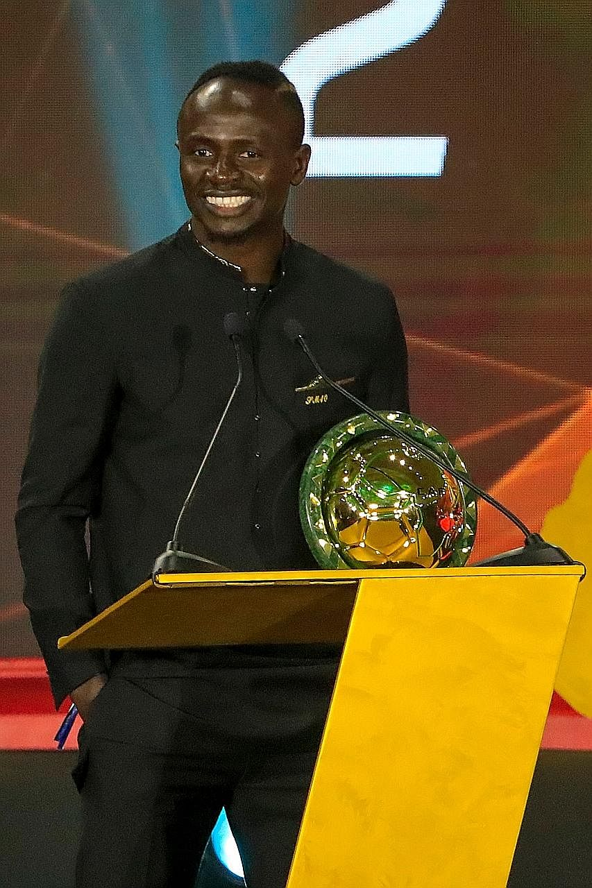 Liverpool's Senegalese forward Sadio Mane winning the African Player of the Year award to deny club teammate Mohamed Salah of Egypt from claiming a hat-trick.