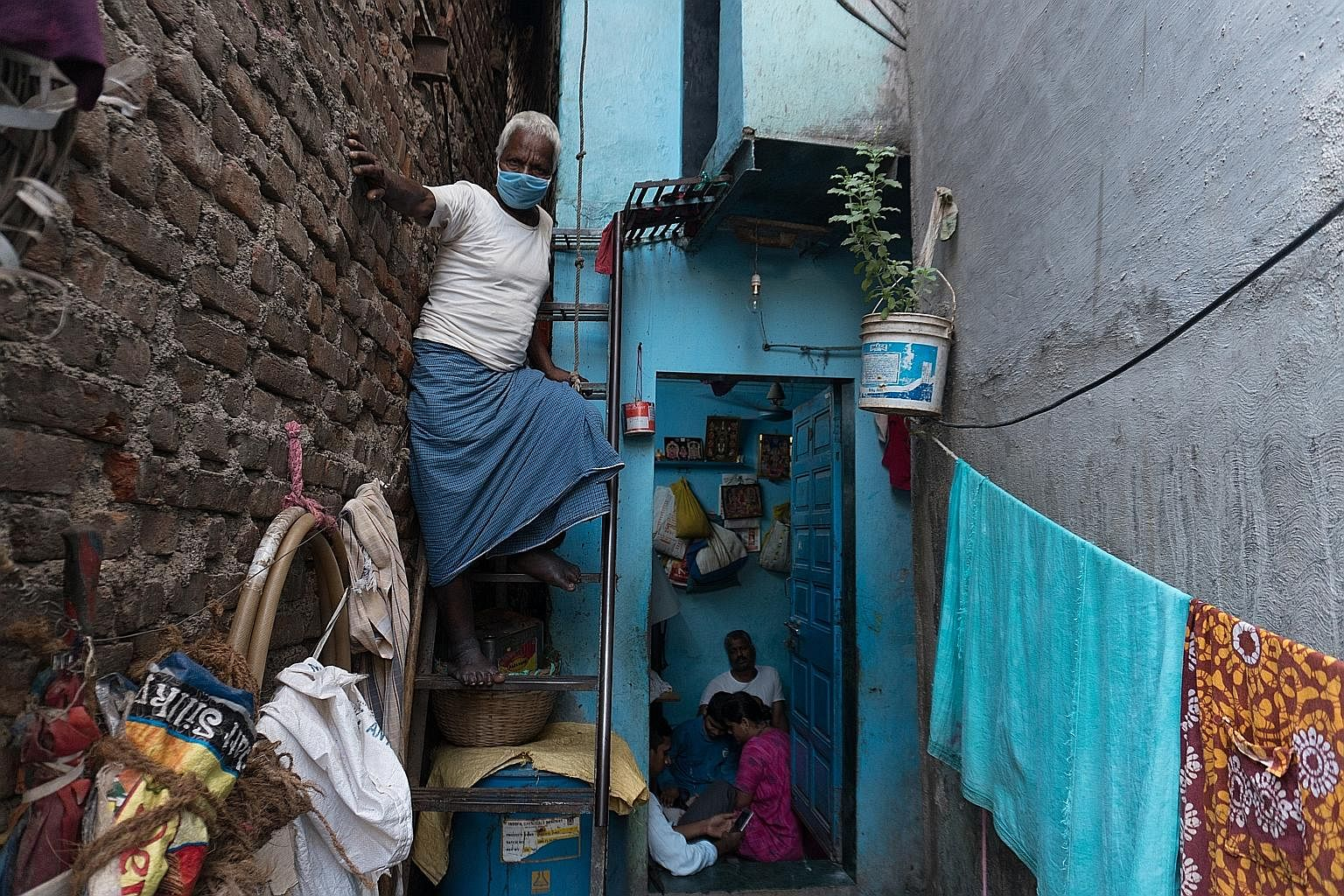 Poor sanitation and shared toilets compound the problem of maintaining hygiene standards.