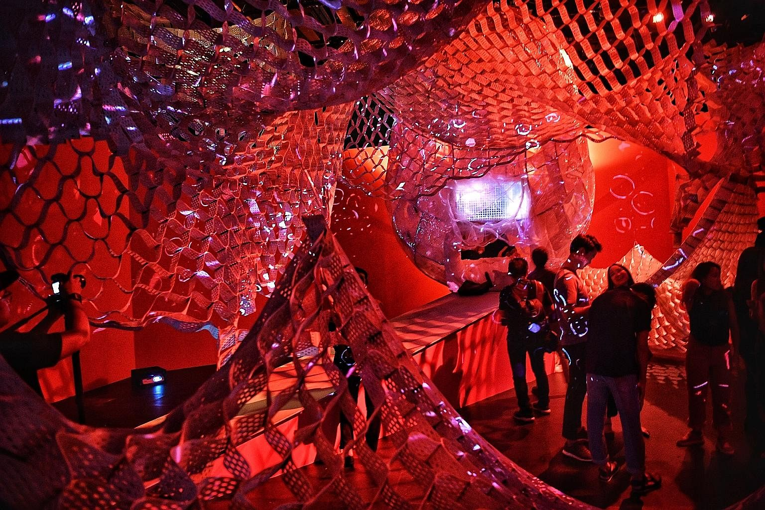 Sonic Womb by Randy Chan on display during Singapore Art Week last year. The coronavirus outbreak has hit arts groups hard, forcing them to cancel or postpone their shows and the industry to chalk up huge losses. But it has also been a catalyst for d