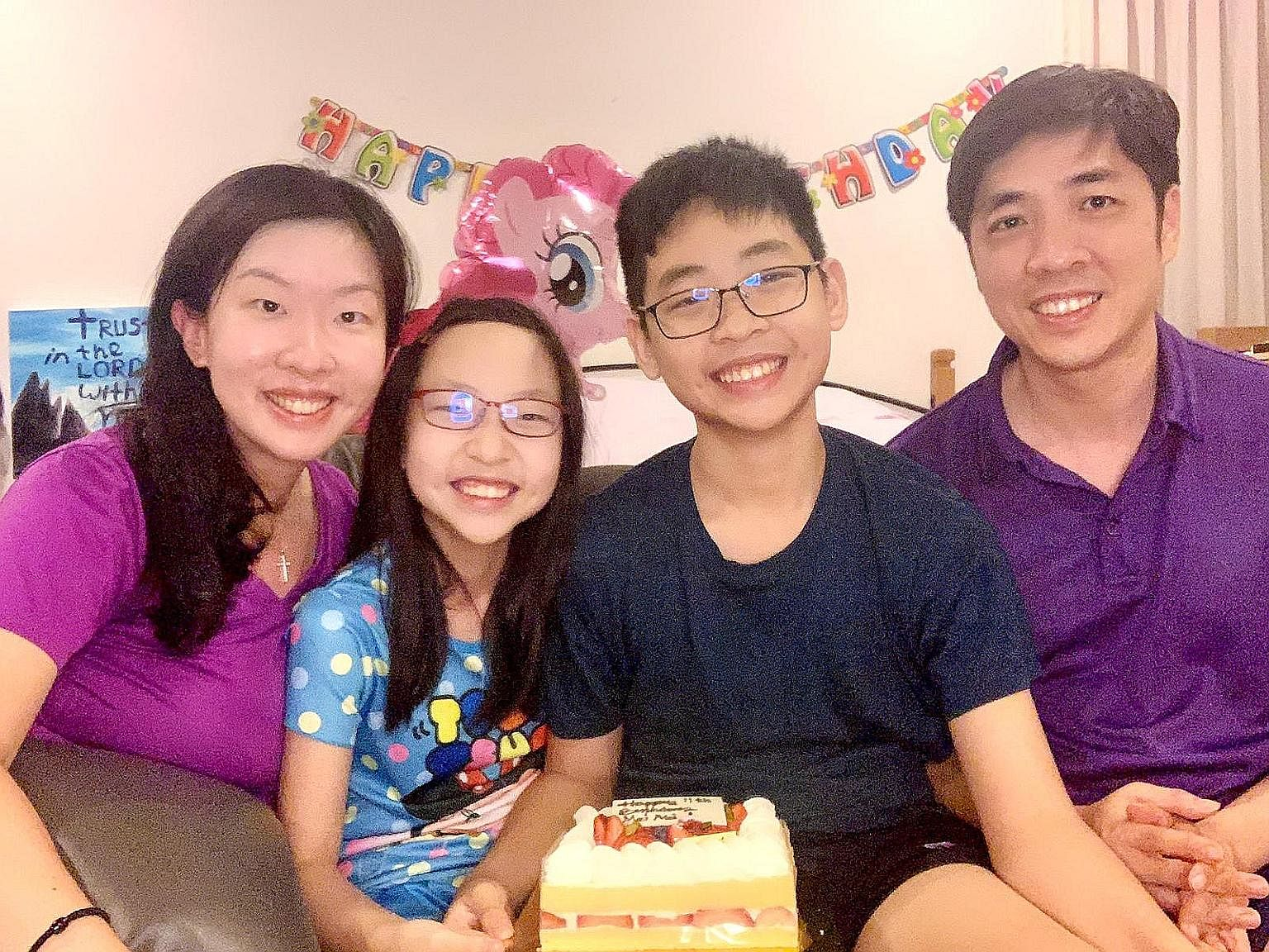Ms Violet Lim and her husband, Mr Jamie Lee, both contracted Covid-19 following an overseas trip. After being discharged from hospital, she focused on building qualities like resilience and independence in their kids Corum and Cara.