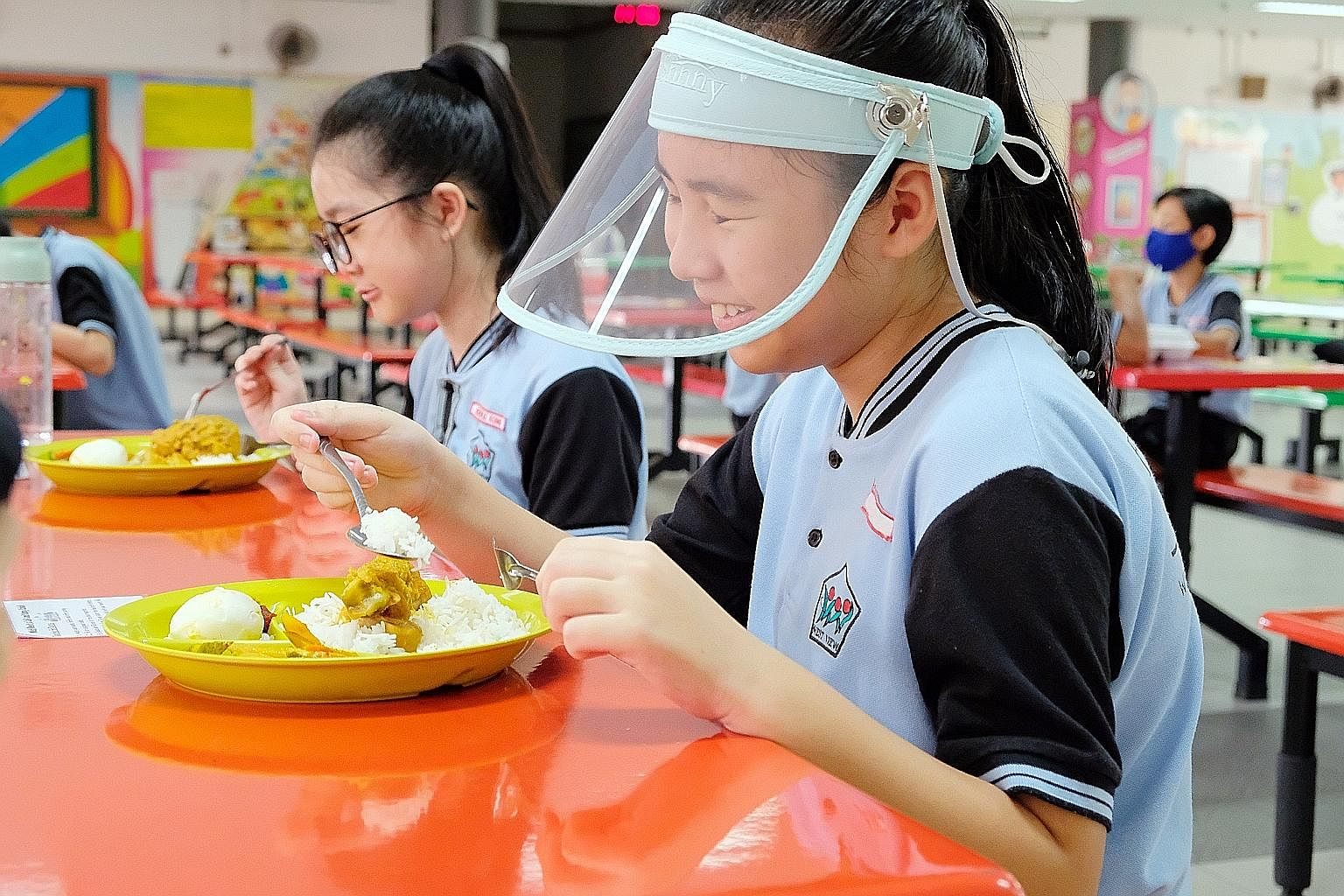 Apart from face masks, plastic face shields can be worn by st