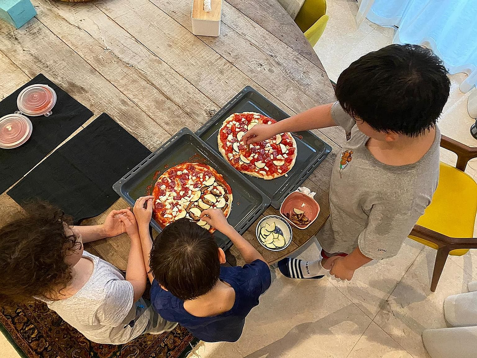 If you have children at home, they will love shaping the dough and trying out different toppings.