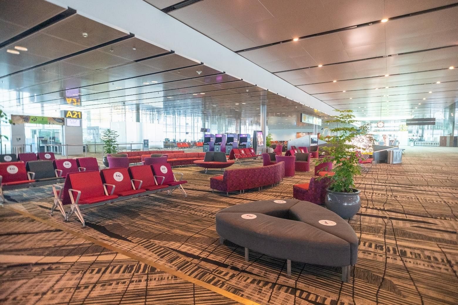 The Transit Holding Area in Changi Airport Terminal 3. PHOTO: CHANGI AIRPORT GROUP