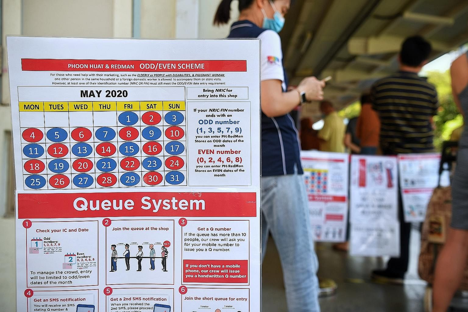 To manage long queues last month, Phoon Huat let buyers into the store depending on the last digit of their identity card numbers. The system was discontinued earlier this month.