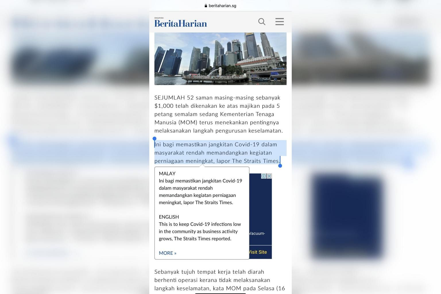 New Tool To Translate News In Berita Harian From Malay To English Singapore News Top Stories The Straits Times