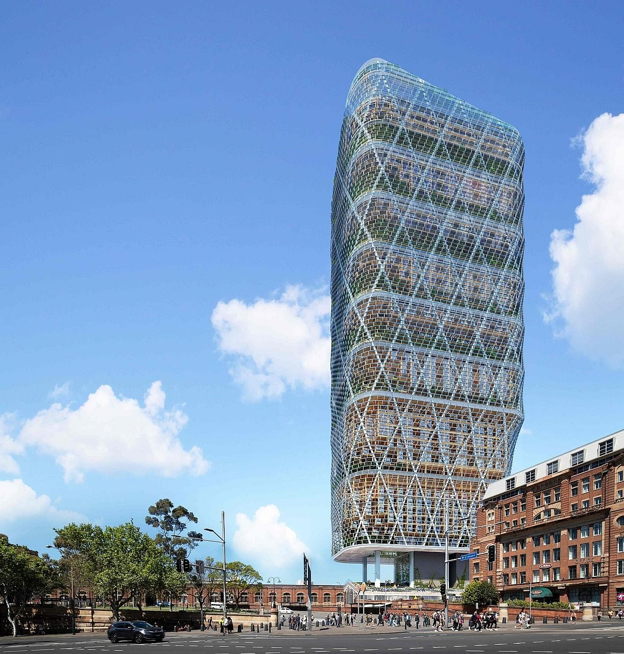"Global software giant Atlassian will build the world's tallest ""hybrid timber"" building for its new headquarters in Sydney, the company said yesterday. The 40-storey structure (above), coming in at 180m, will be built with timber mass - layers of sof"