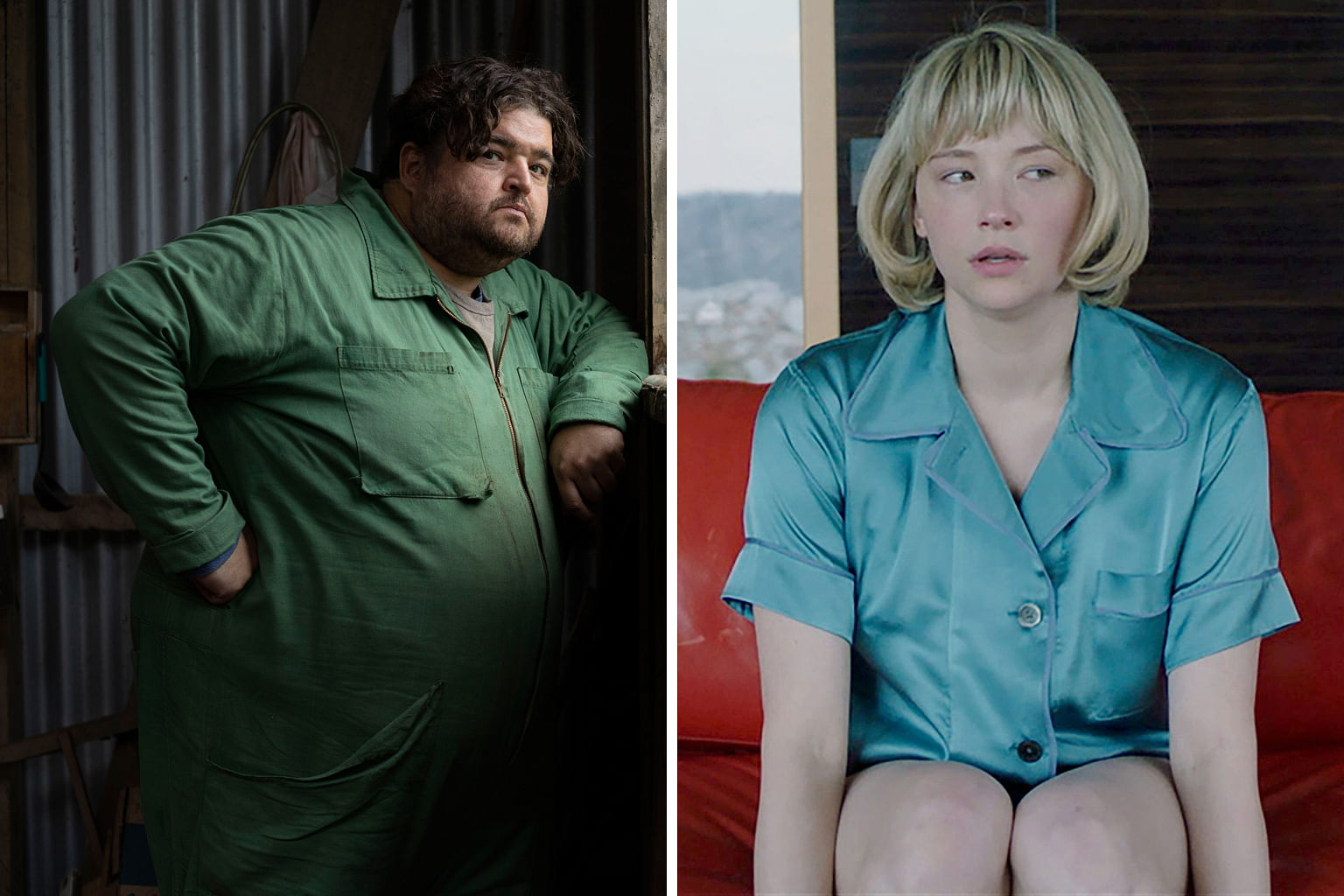 (Clockwise, from top) Anna-Maria Sieklucka in 365 Days, Haley Bennett in Swallow and Jorge Garcia in Nobody Knows I'm Here.