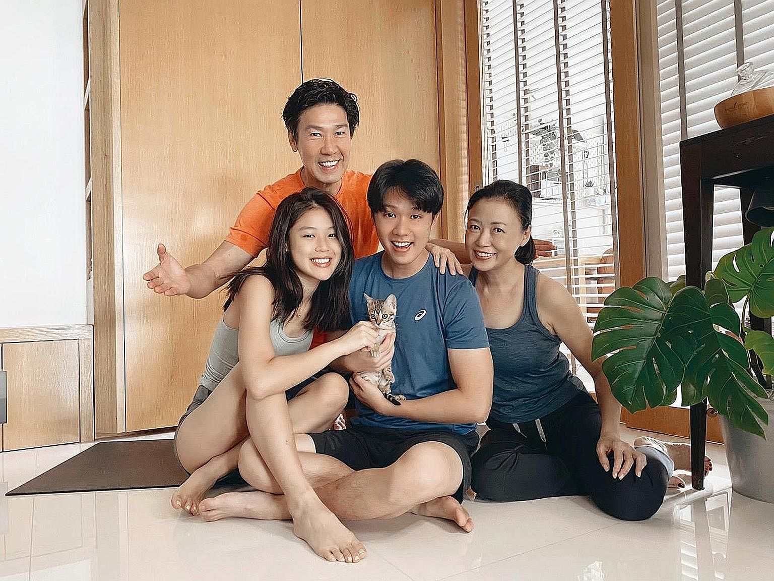 The circuit breaker kick-started a health drive for Xiang Yun, Edmund Chen and their son Yixi and daughter Yixin.