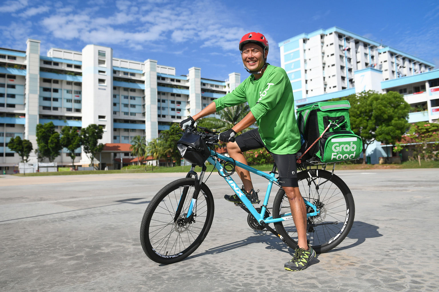 Mr Andy Yap, 40, who was laid off in February, now earns up to $2,000 in a good month, about a quarter of what he used to earn in his former role. His advice for others facing tough times is to be positive.