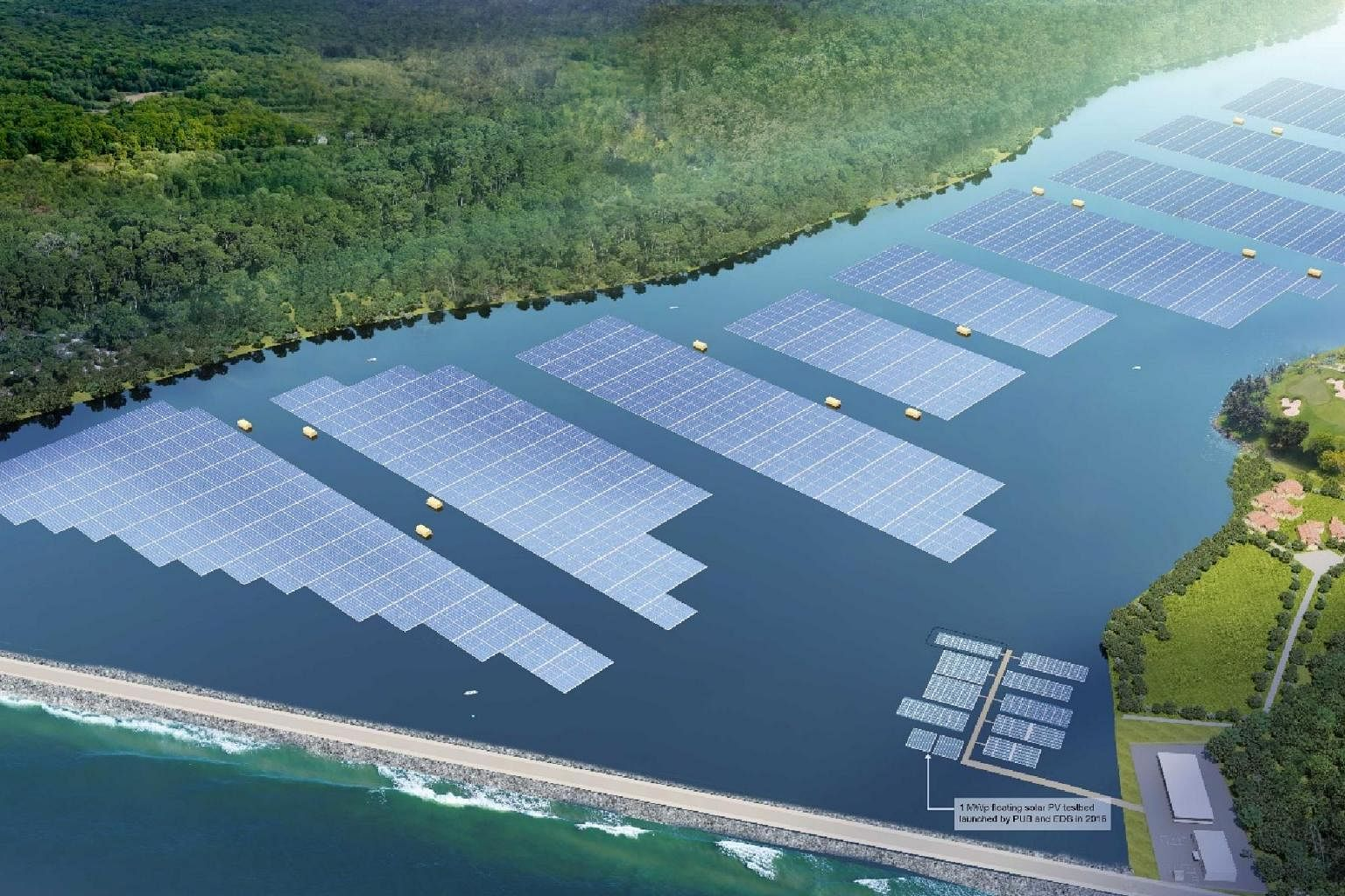 floating solar farms Singapore