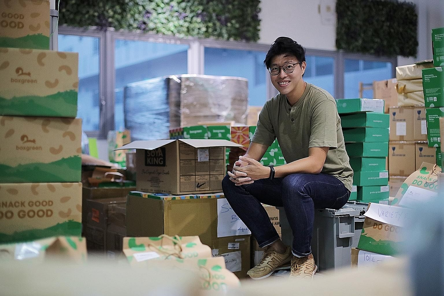 Food service BoxGreen, which Mr Walter Oh co-founded, is a B-corp certified business, which means it uses business as a force for good.