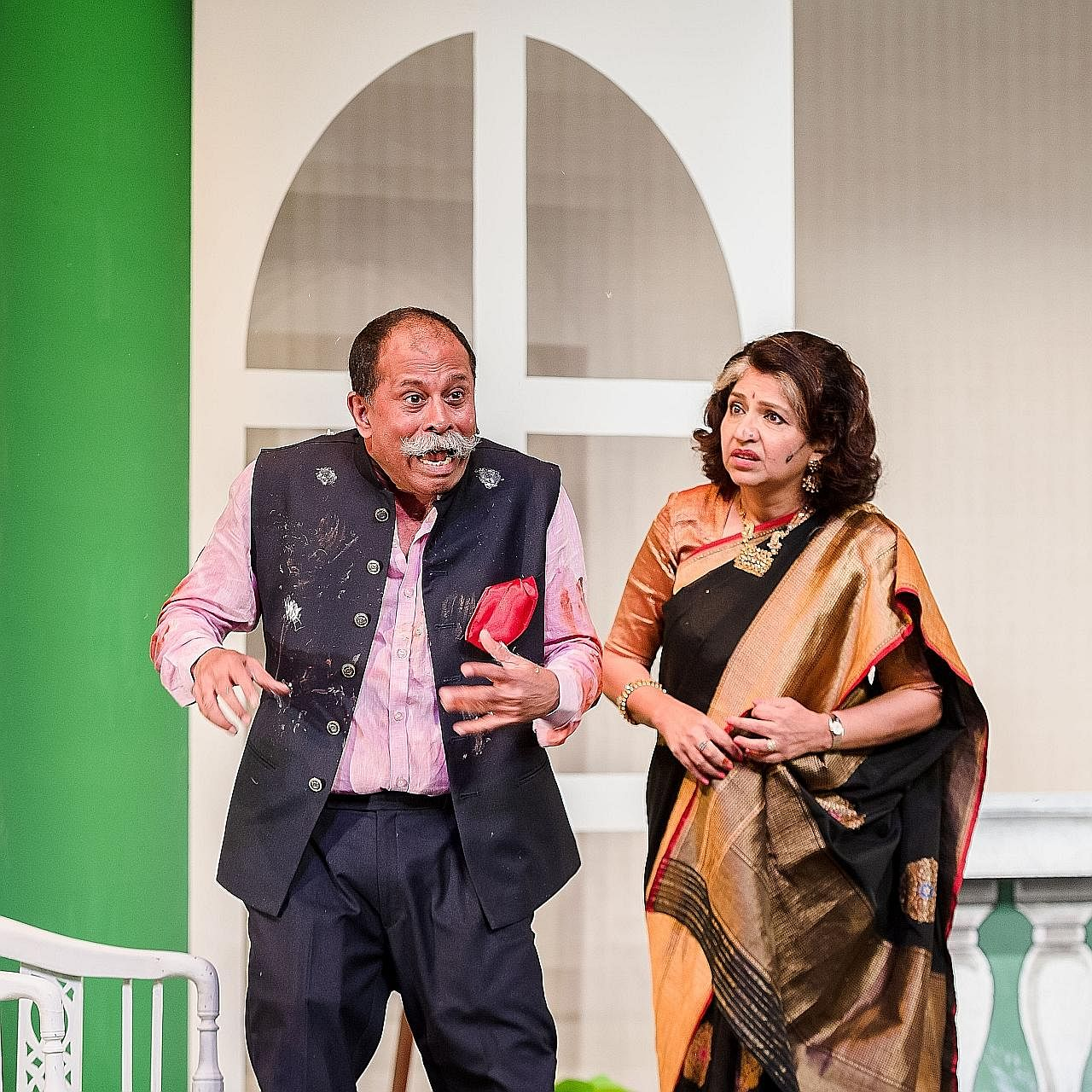 (Left) Subin Subaiah and Daisy Irani Subaiah in Here Comes The Bride.