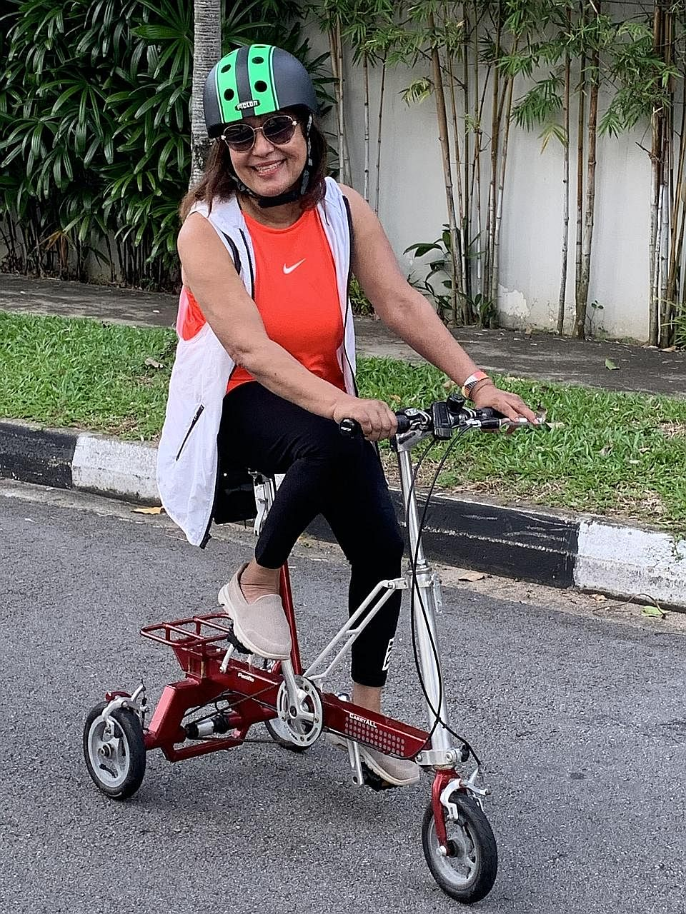 Lucy Shaw had a stroke almost nine years ago and after rehabilitation, she now cycles and does yoga, among other activities. Shaw will take part in the Singapore National Stroke Association's Stepping Out for Stroke virtual walk and The Straits Times