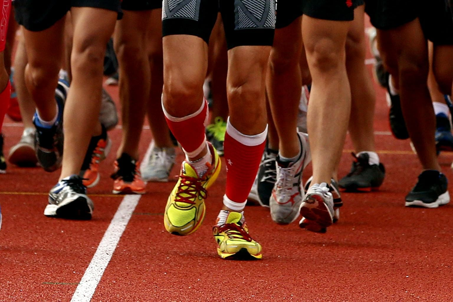 Sport Singapore Partners With Dow To Turn 300 000 Used Shoes Into Rubber Granules For Jogging Tracks Playgrounds Sport News Top Stories The Straits Times