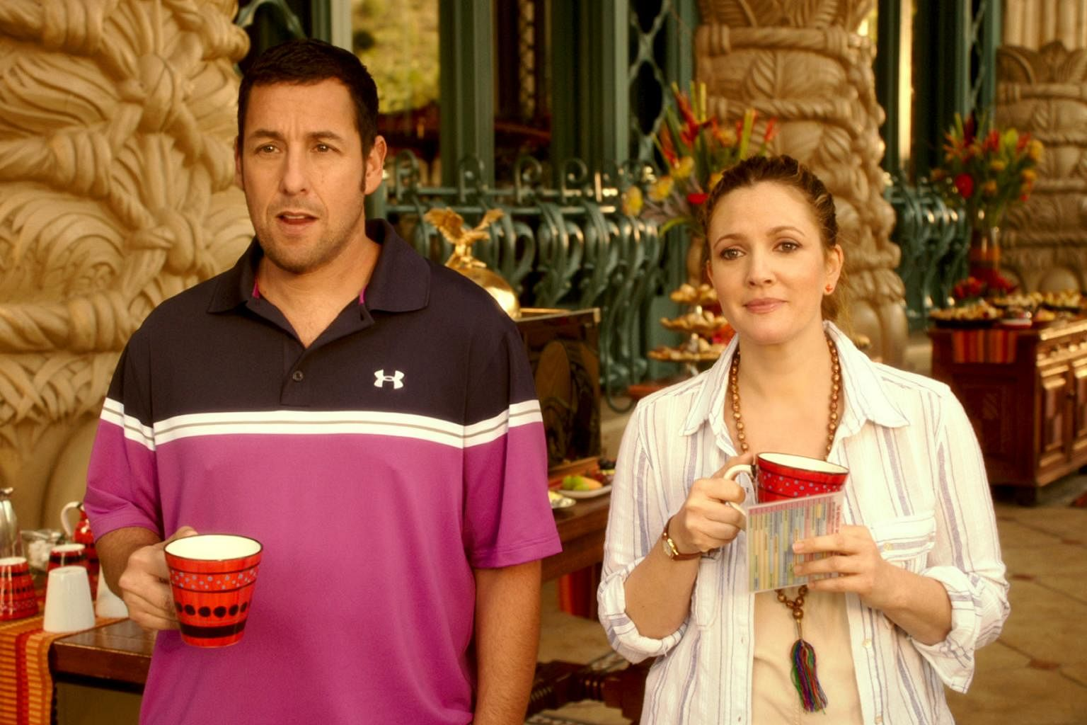 Adam Sandler Is Up For Making Another Movie With Frequent Co Star Drew Barrymore Entertainment News Top Stories The Straits Times