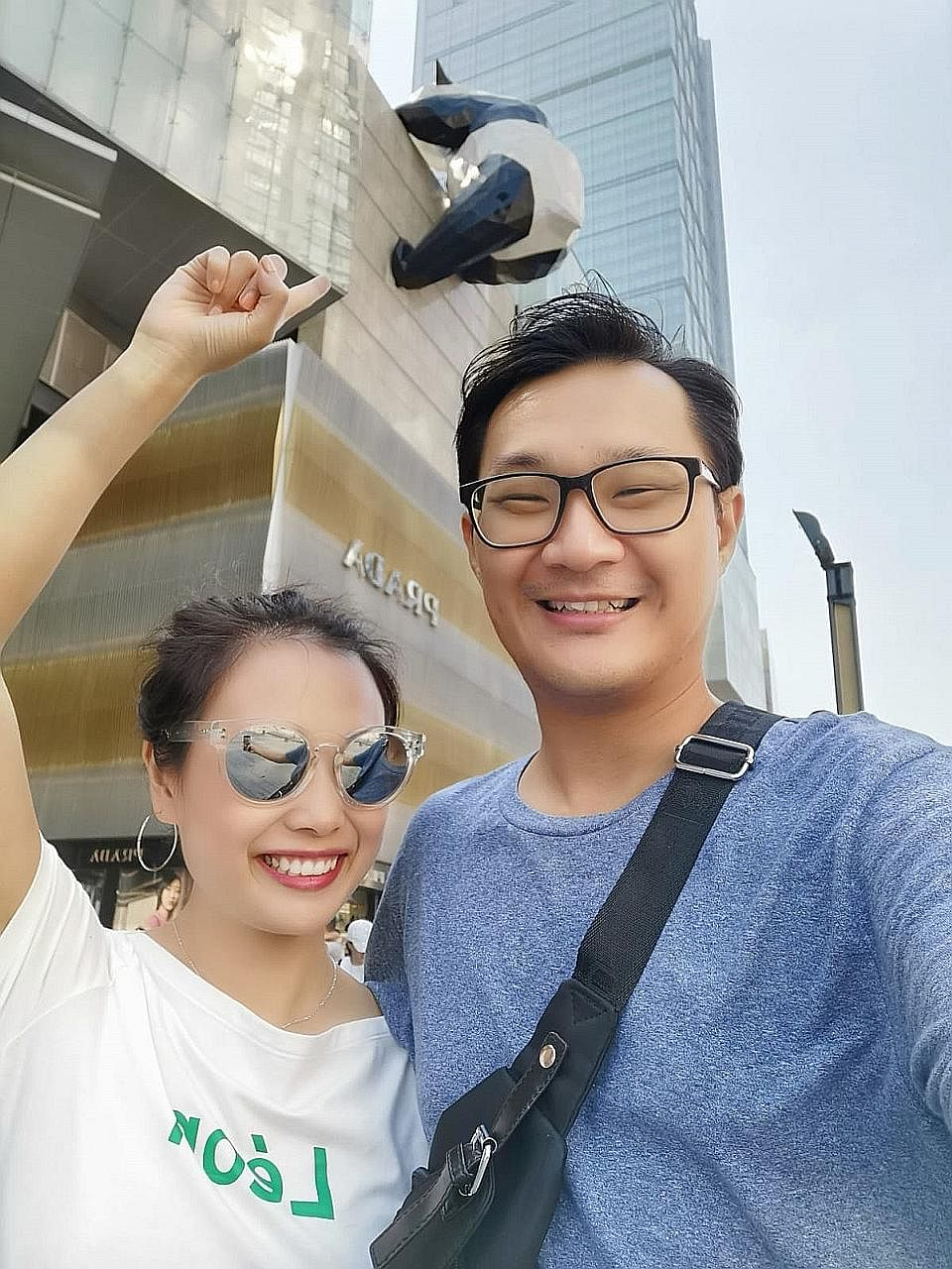 Mr Suen Tat Yam visited Chengdu with his then girlfriend Clara, who is now his wife (both left), in 2019 and hopes to visit again after the pandemic.