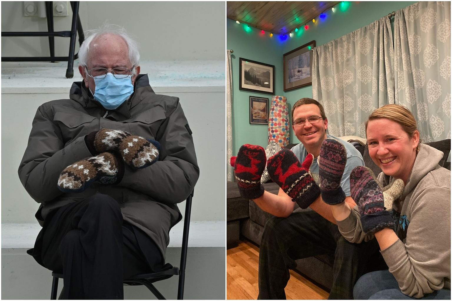 Bernie Sanders Mitten Maker Marvels Over 15 Minutes Of Fame Style News Top Stories The Straits Times