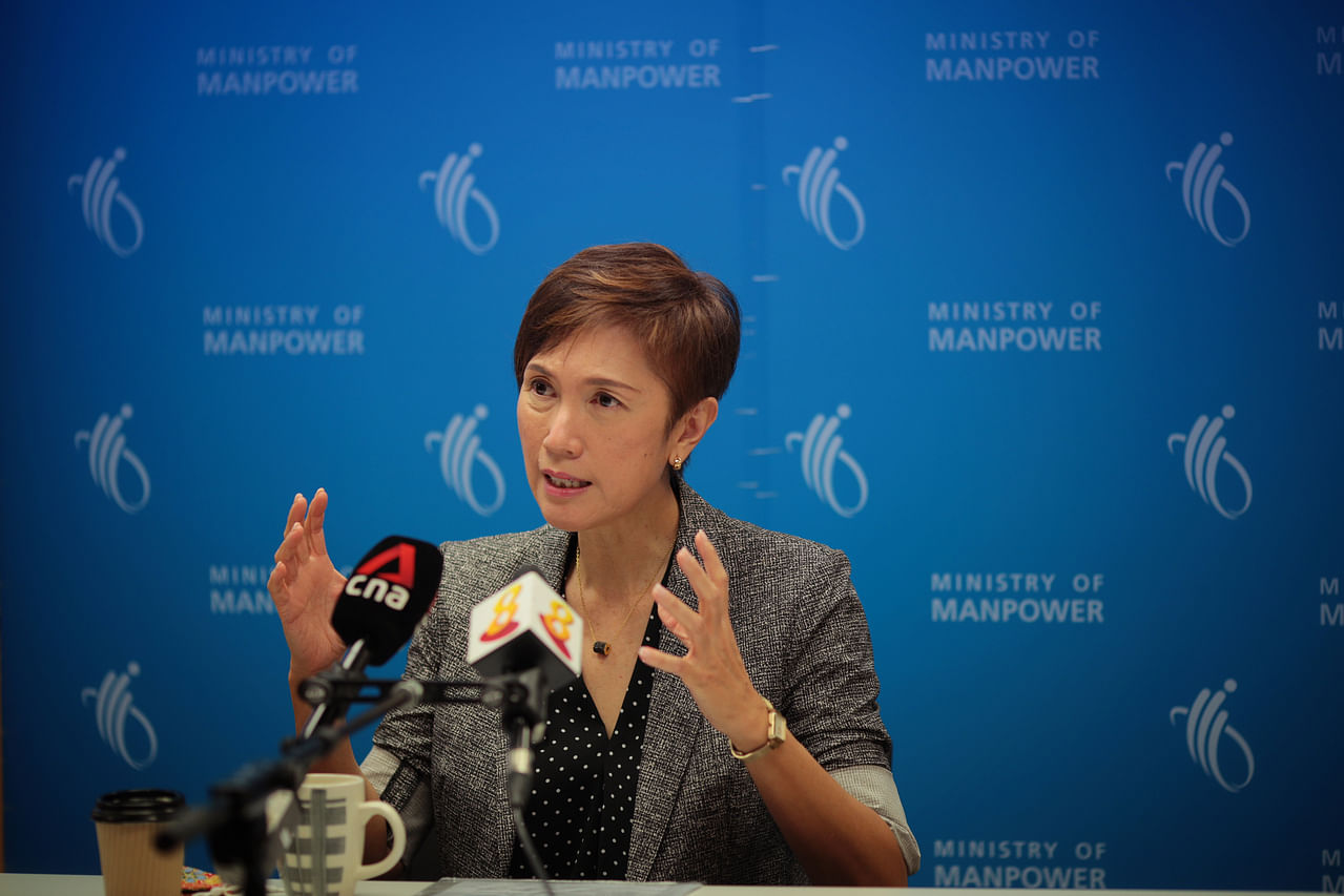 Manpower Minister Josephine Teo said it is wise to keep in mind that risk factors do remain, even though the economy and the labour market have been on the mend since the fourth quarter of last year. ST PHOTO: JASON QUAH