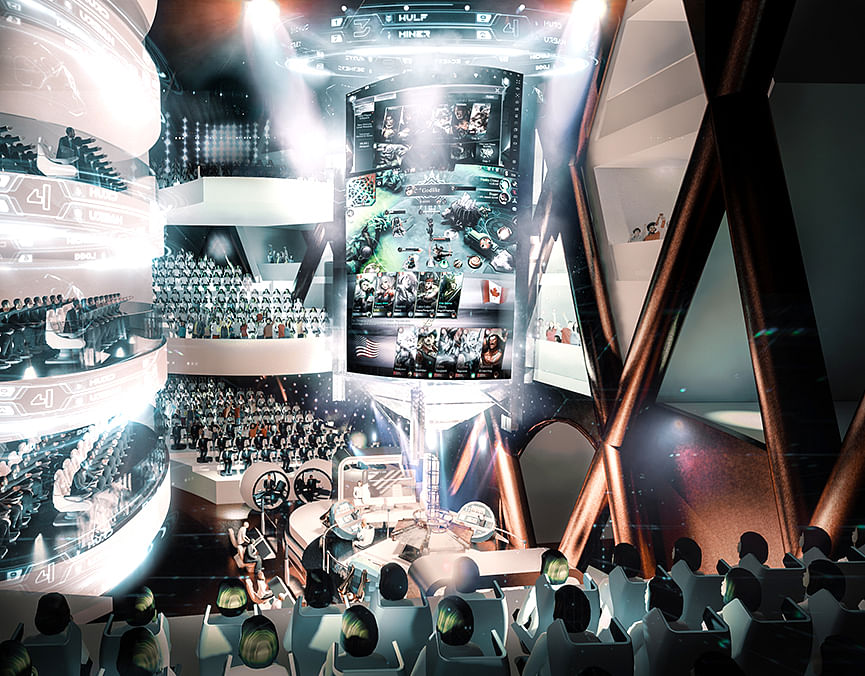 team ardent, international building design competition 2020, built environment, An Inquiry of Neo-Typologies, rendering, esports hall