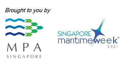 maritime and port authority of singapore logo, singapore maritime week 2021 logo