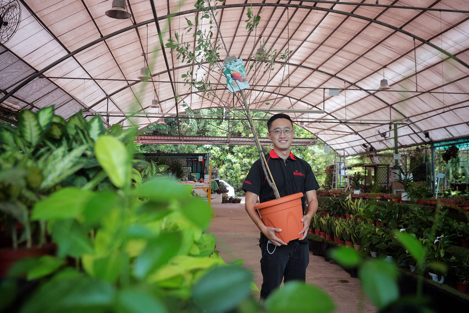 Mr Ken Ong, who used to work in the tourism industry, joined the landscaping sector about a year ago. The landscape coordinator says he finds the job rewarding even though he now earns about 20 to 30 per cent less than before.
