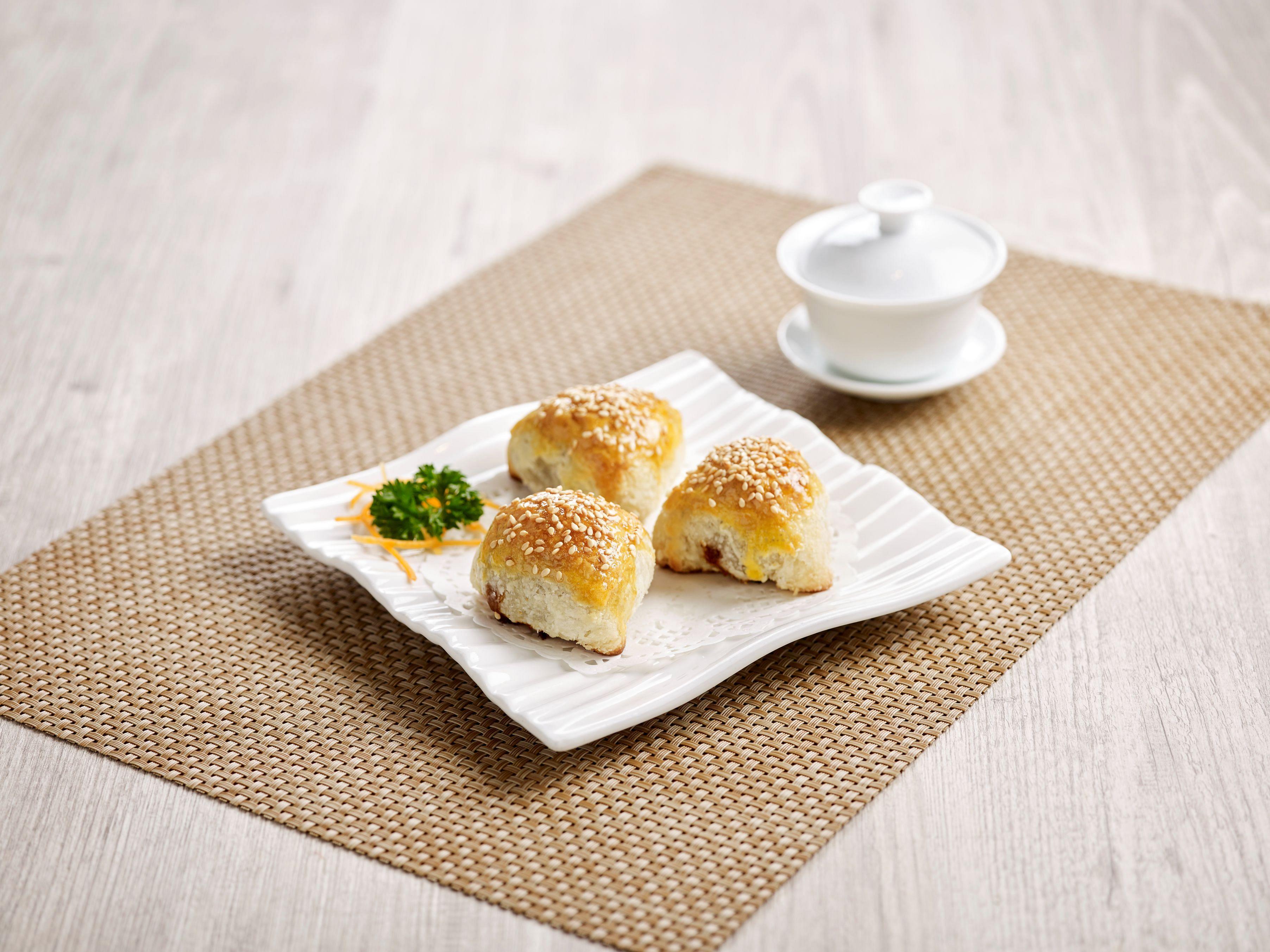 paradise teochew, baked bbq honey pork pastry
